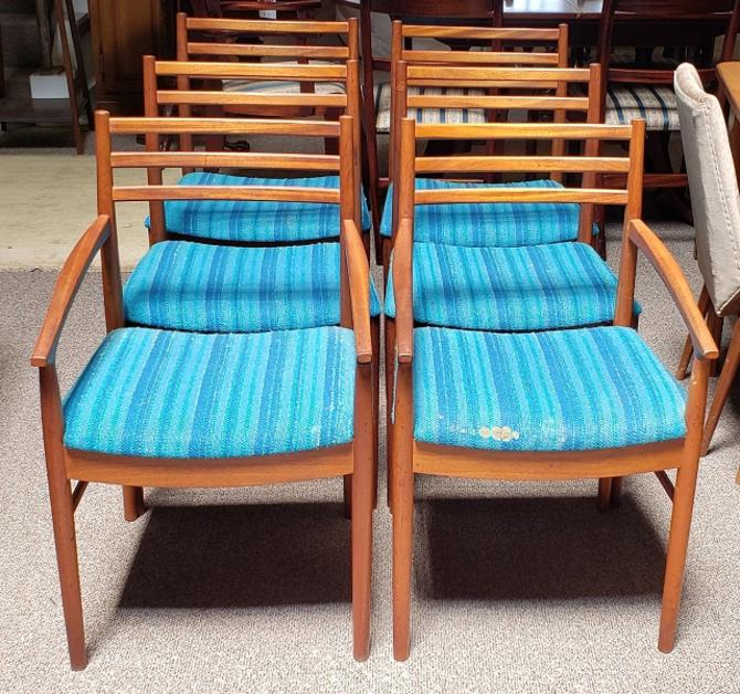 Item #R73 Set of Six Mid Century Teak Dining Chairs by McIntosh c.1960s