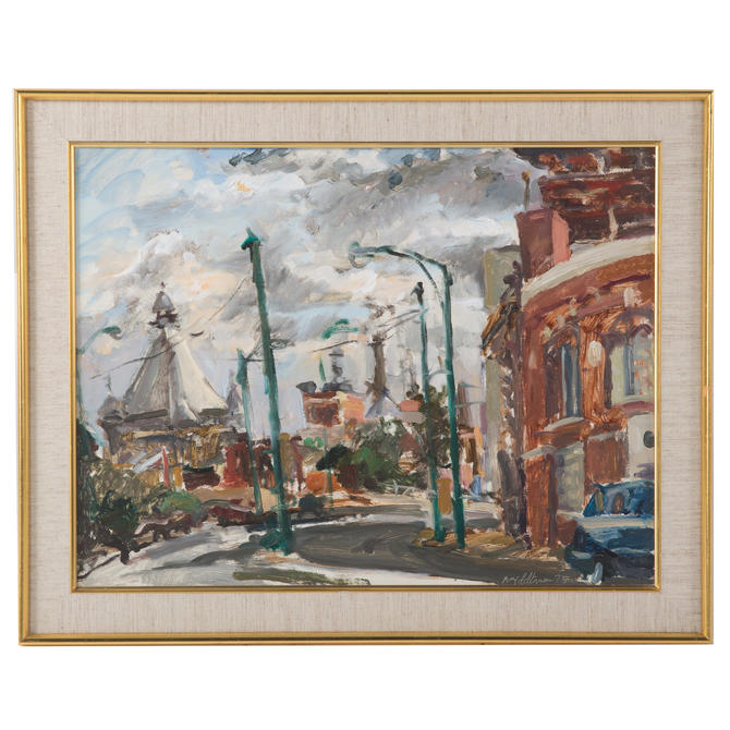 Raoul Middleman. Baltimore Street Scene