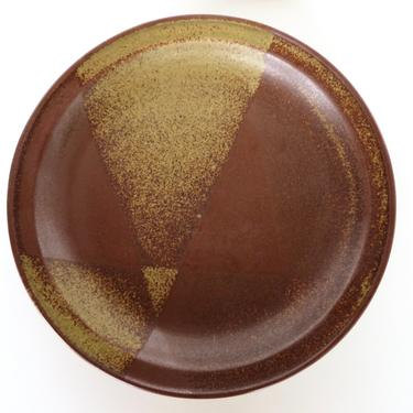"""Single Iron Mountain Stoneware salad Plate, Replacement Side Plate in Roan, 8"""" Rustic Modern Stoneware Plate by HerVintageCrush"""
