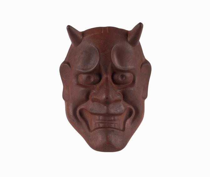 Noh Theater Ceramic Mask Hannya Japan Sotaro Saegusa by VintageInquisitor