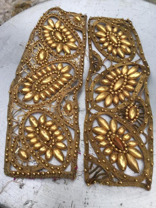 Antique Mercury Appliqués Sew patch Gold Glass by BrainWashington