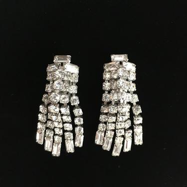 Rhinestone Clip Earrings by InstantVintage78
