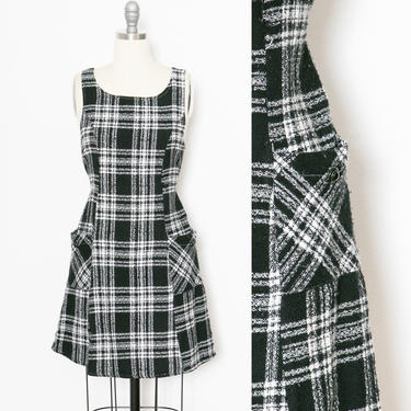 1990s Dress Plaid Woven Schoolgirl S by dejavintageboutique