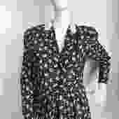 Ted Lapidus Wool Leaf Dress