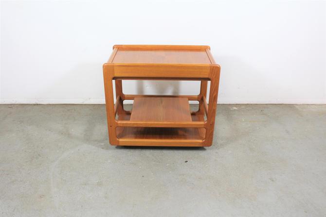 Danish Modern Teak Dry Bar/Tea Serving Cart on Wheels by AnnexMarketplace
