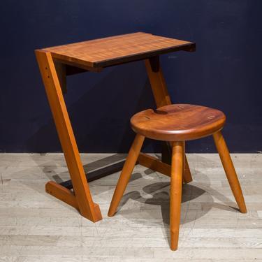 Custom Folding Desk and Stool by Thomas Saydah c.2010