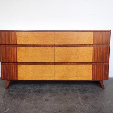 Mahogany + Birdseye Burl Dresser by Rway by IridiumInteriors