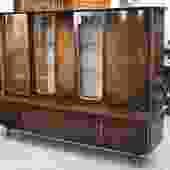 LT Mid-Century Bar Console in Burled Walnut