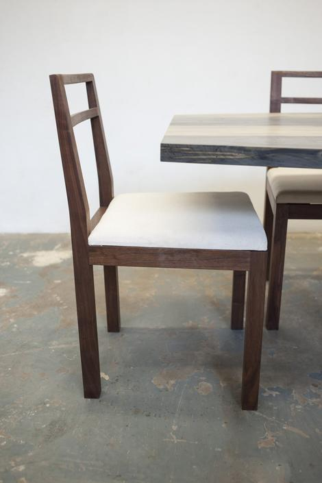 Neese Dining Chair - Solid Walnut Canvas Upholstery - Dylan Design Co by dylangrey
