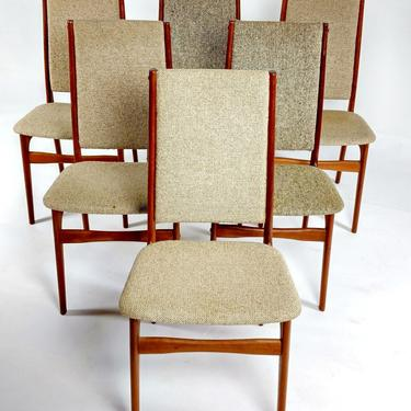 Schionning & Elgaard Dining Chairs- Set 6 by ModernMixPlus