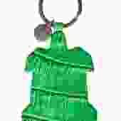 Bottega Veneta - Green Alligator Turtle Keychain