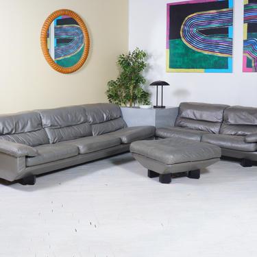 Leather 1980s Sofa by BetsuStudio