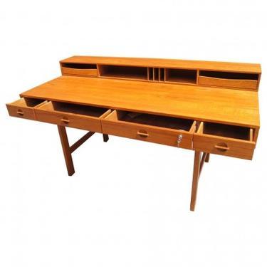 Midcentury Teak Flip-Top Desk by Peter Løvig Nielsen