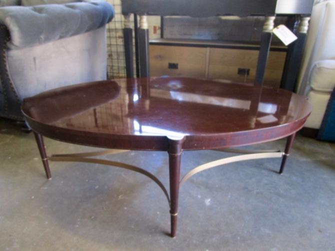 OVAL COFFEE TABLE BY BAKER