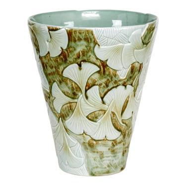 Chinese Porcelain Gingko Vase by ErinLaneEstate