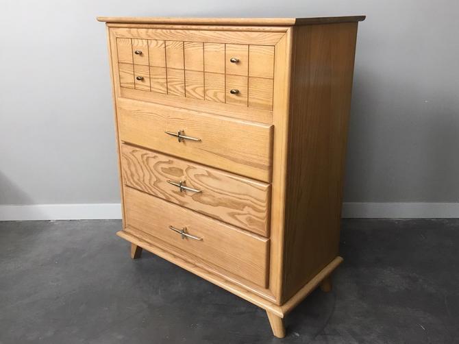 vintage mid century modern highboy dresser by LA Period Furniture.