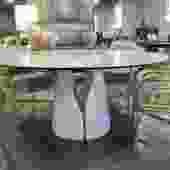 GIANO KERAMIK FOR CATTELAN ITALIA 62″ ROUND MARBLE TOP TABLE