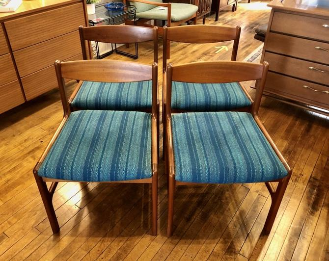 Vintage Teak Dining Chairs by A.H. McIntosh & Co. Scotland