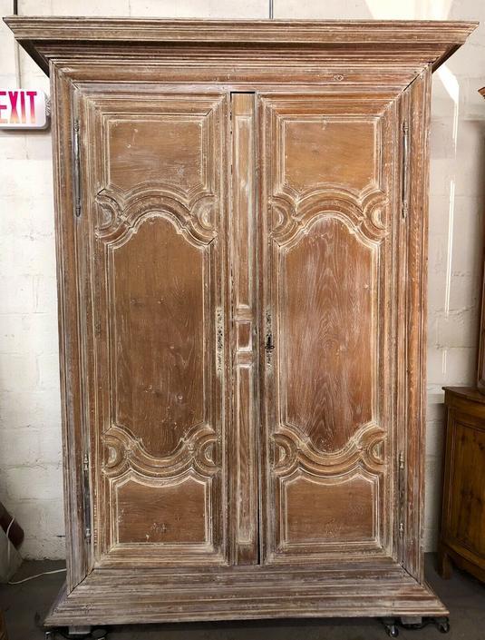 Antique French Oak Provincial Armoire | Entertainment Center Bar | Louis XVI