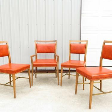 PAUL MCCOBB for CALVIN FURNITURE; DINING CHAIRS SET; Vtg MID CENTURY Table Sofa