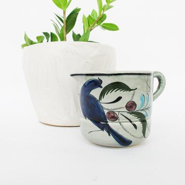 Colorful Tonala Hand Painted Vintage Glazed Ceramic Pitcher / Measuring Cup - Made in Mexico by PortlandRevibe