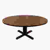 Danish Large Oval Rosewood Pedestal Expanding Dining Table
