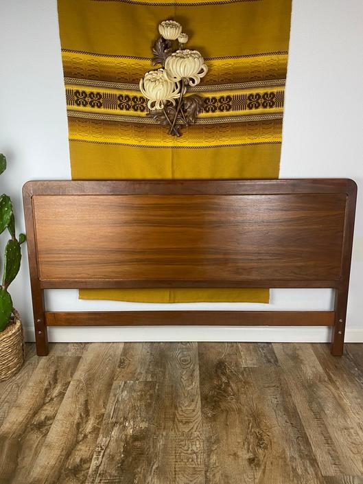 "Vintage Mid Century Modern Walnut Headboard 60"" by DesertCactusVintage"