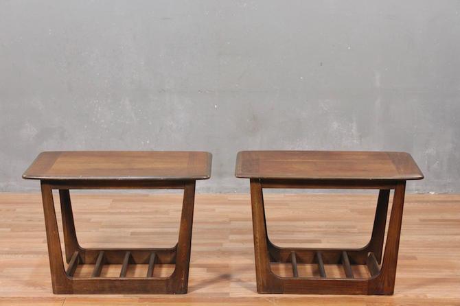 Mid Century Walnut Slat-Bottom End Table – ONLINE ONLY