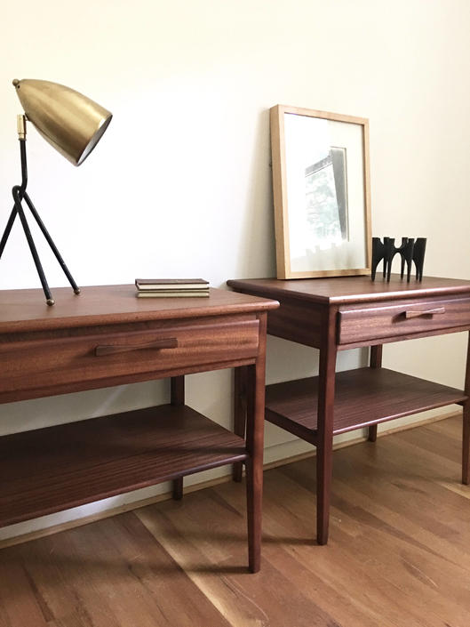 excellent mid century modern bedroom referencias san and | Rare Bowtie Bedroom Set Nightstands and Dressers with ...