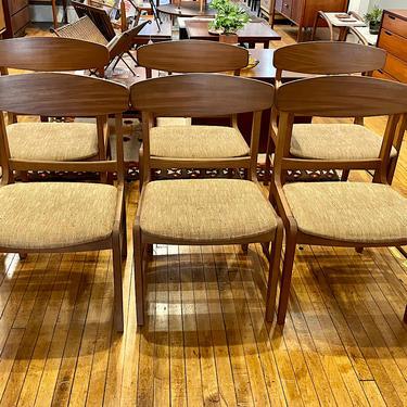 \u2018Danish Forum\u2019 Dining Chairs by Stanley Furniture 1960s