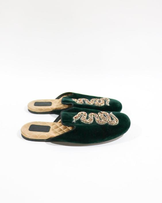 Gucci The Lawrence Princetown Slides, Size 39
