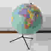 Vintage Mid-Century Repogle Globe with Black Tripod Base