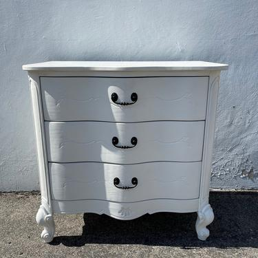 French Provincial Chest Nightstand Dresser Bombe Bachelor Bedside Table Furniture Console Bedroom Antique Shabby Chic CUSTOM PAINT AVAIL by DejaVuDecors