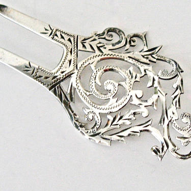 Edwardian Asymmetrical Sterling Hair Comb, Edwardian Hairpin, Antique Hair Comb Hair Pin, Hair Ornament, Hair Jewelry, Hair Decoration by CombAgain