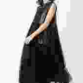 Tulle and Leather Full Skirt Dress