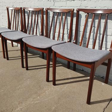 Mid Century English Modern Solid Teak Dining Chairs by VintageVaultTulsa