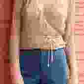 90's Bisou Bisou Wrap Top Size Medium