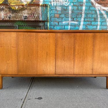 Paul McCobb Mid Century for Calvin Collection cabinet credenza dresser sideboard walnut brass 4 drawer by symmetrymodern