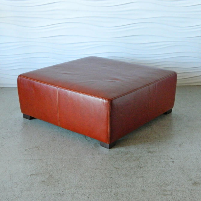 HA-C8168 XL Square Leather Ottoman