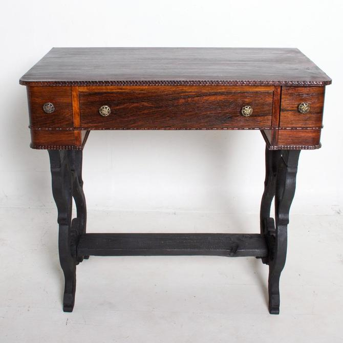 Antique Rosewood Work Table with Drawers Art Deco Period by AMBIANIC
