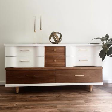 Two-Tone Mid Century Modern Dresser by madenewdesignct