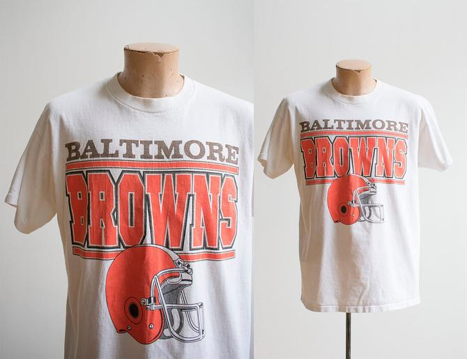 Baltimore Browns Tshirt / Vintage Baltimore Browns Tee / Vintage 1990s NFL Tee / 1995 NFL Tee / Baltimore Browns / Cleveland Browns Tee by milkandice