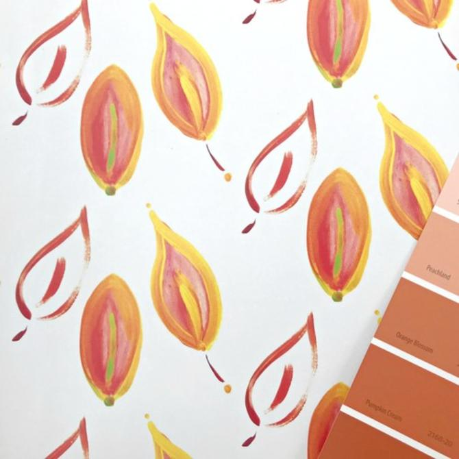 Leaves on Fire Wallpaper