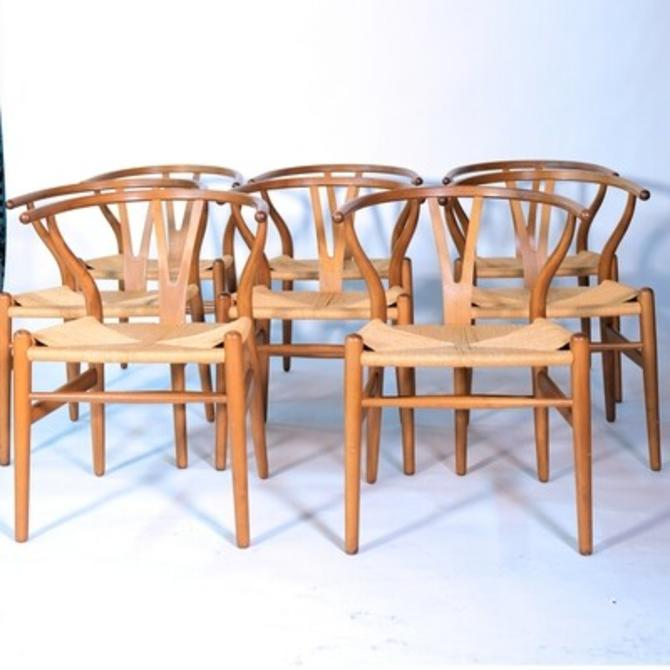 Set of 8 Hans J. Wegner CH24 Dining Chairs