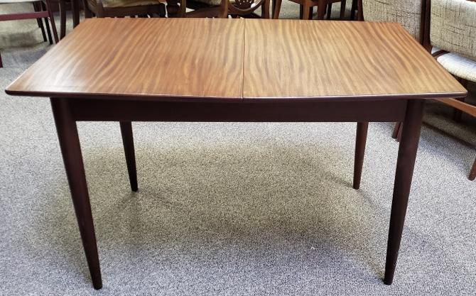 Item #S73 Mid Century Modern Rosewood Dining Table w/ Butterfly Leaf c.1960s