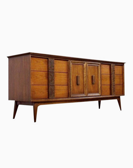 Free Shipping Within US - Vintage Mid Century Modern Dresser Cabinet Storage Drawers by BigWhaleConsignment