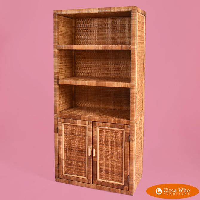 Wrapped & Woven Rattan Etagere