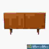 Tambour Door Condo-Sized Sideboard / Media / Bar Cabinet