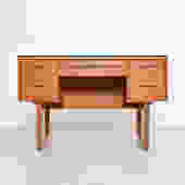 Vintage blonde architectural desk