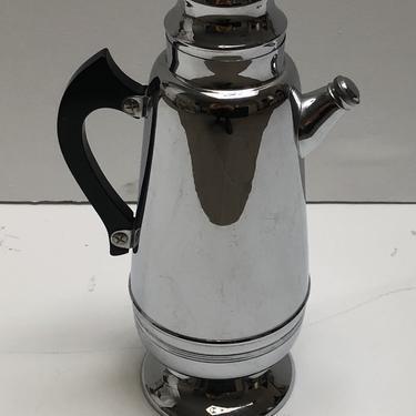 Chrome Cocktail Shaker with Black Bakelite Handle